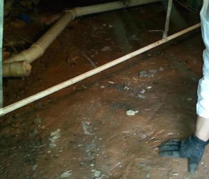 Crawlspace Vapor Barrier Installation In Fort Mill Before