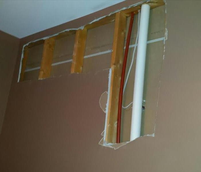 Burst Pipe Damages Drywall In Fort Mill