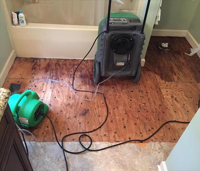 Flooded Bathroom Floor in Fort Mill