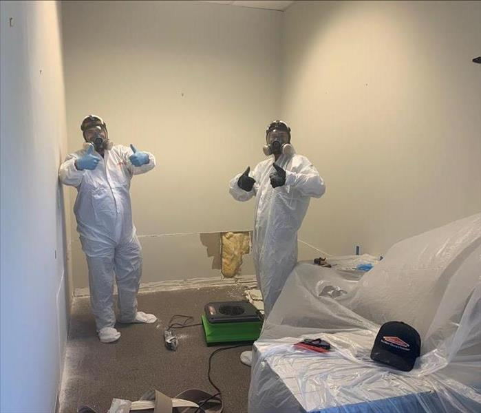 mold technicians in protective equipment