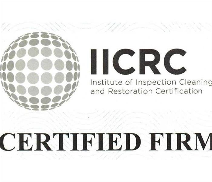 General We are an IICRC Certified Company