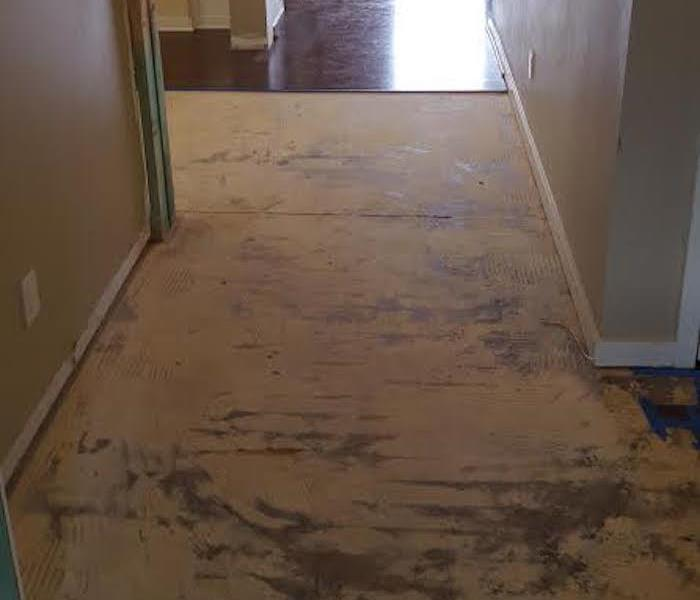 Water Damage Wood Floor Removed Due To Water Damage In Fort Mill